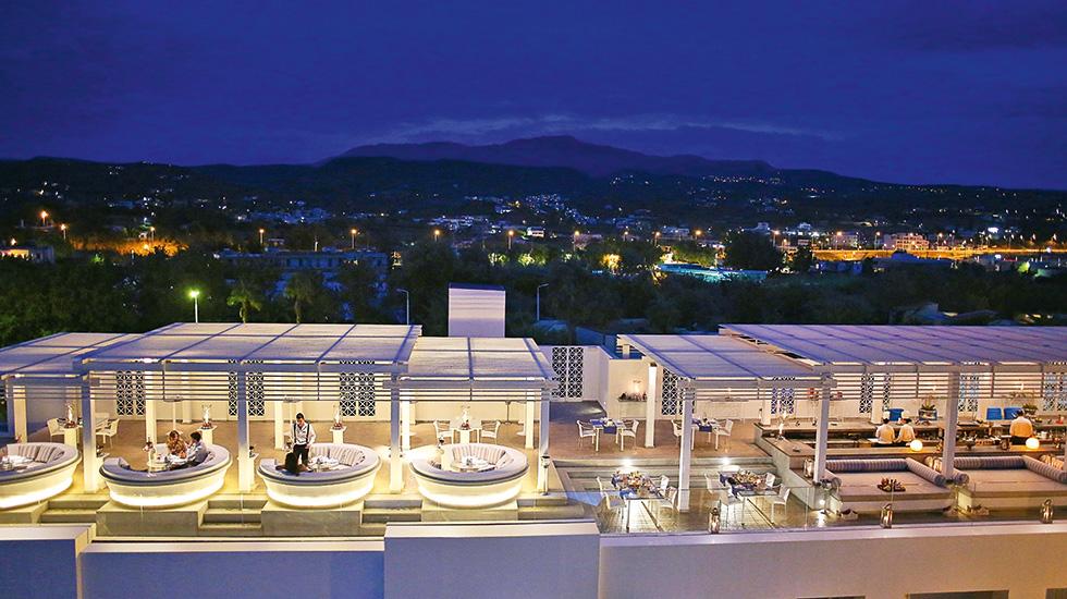 Zeus Amp Amalthia Sky Bar Creta Palace 5 Star Hotel