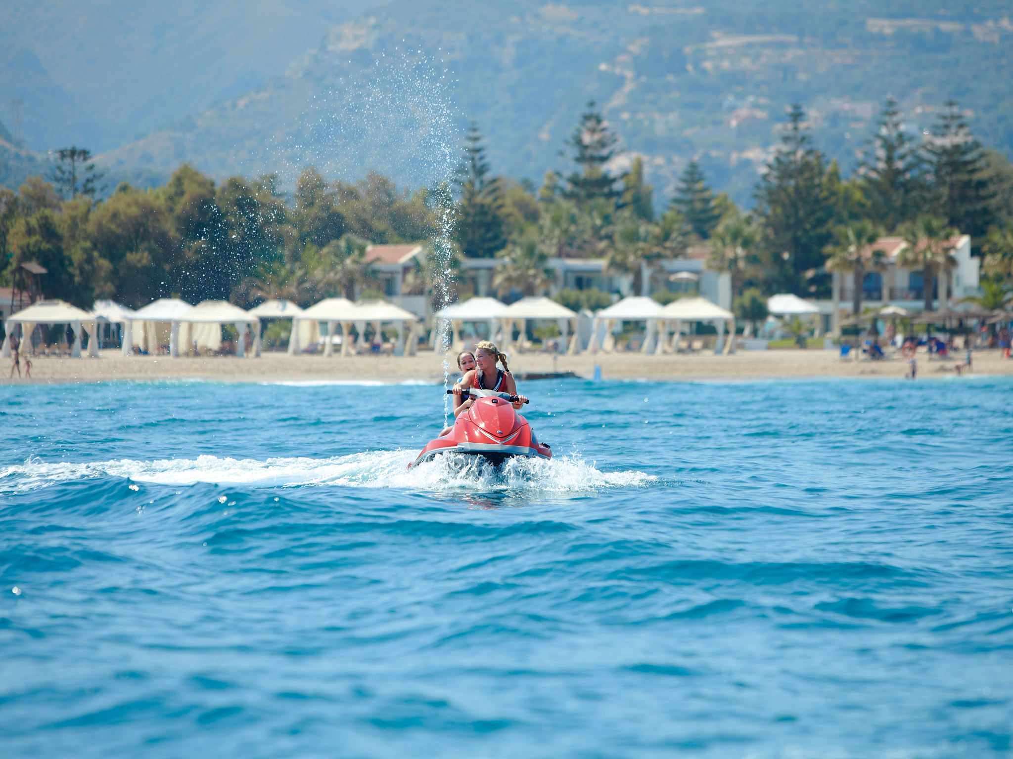 watersports activities luxury hotel crete