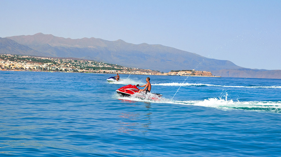 watersports activities luxury resort crete