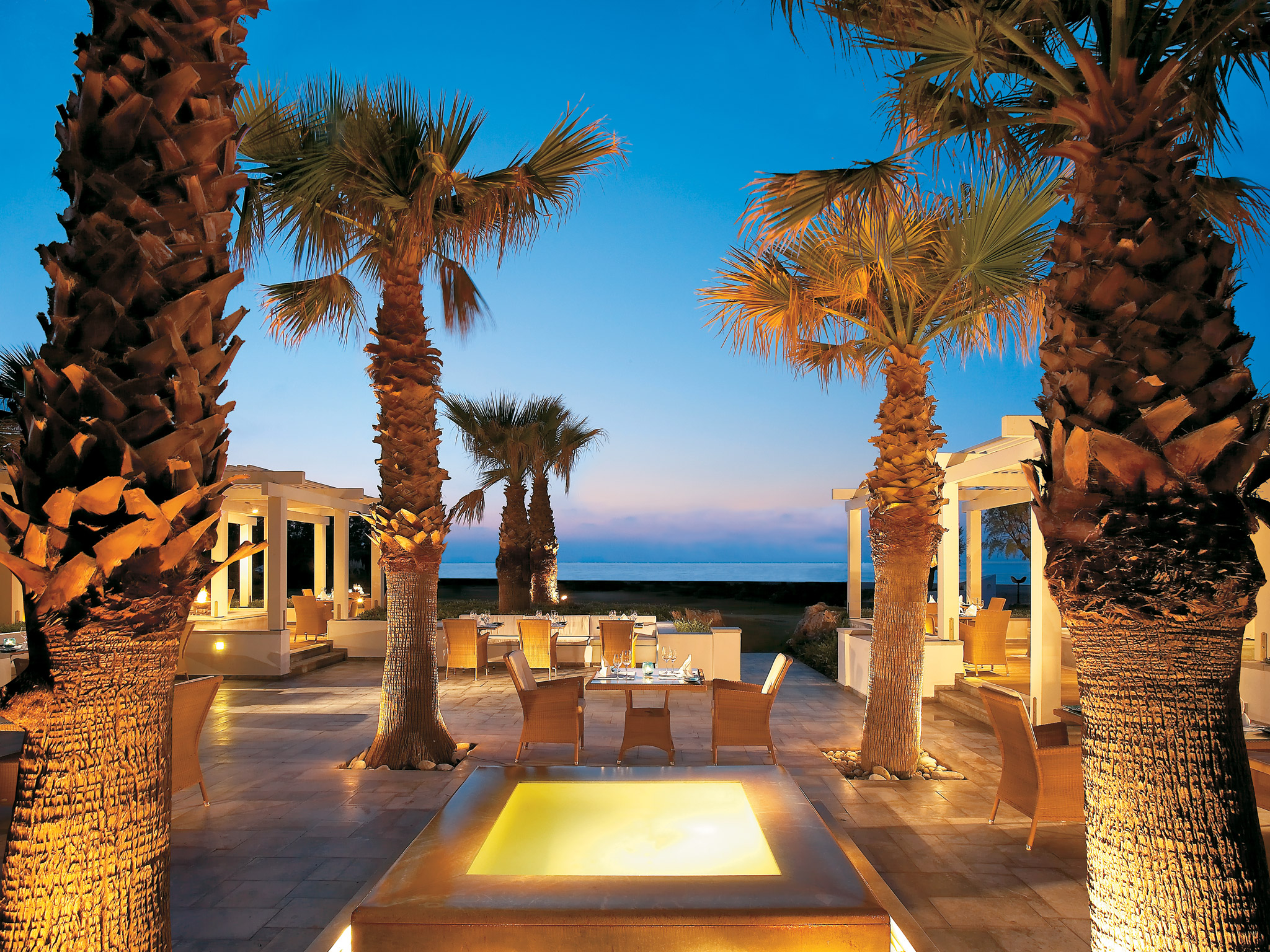 sea view fine dining restaurant hotel rethymno