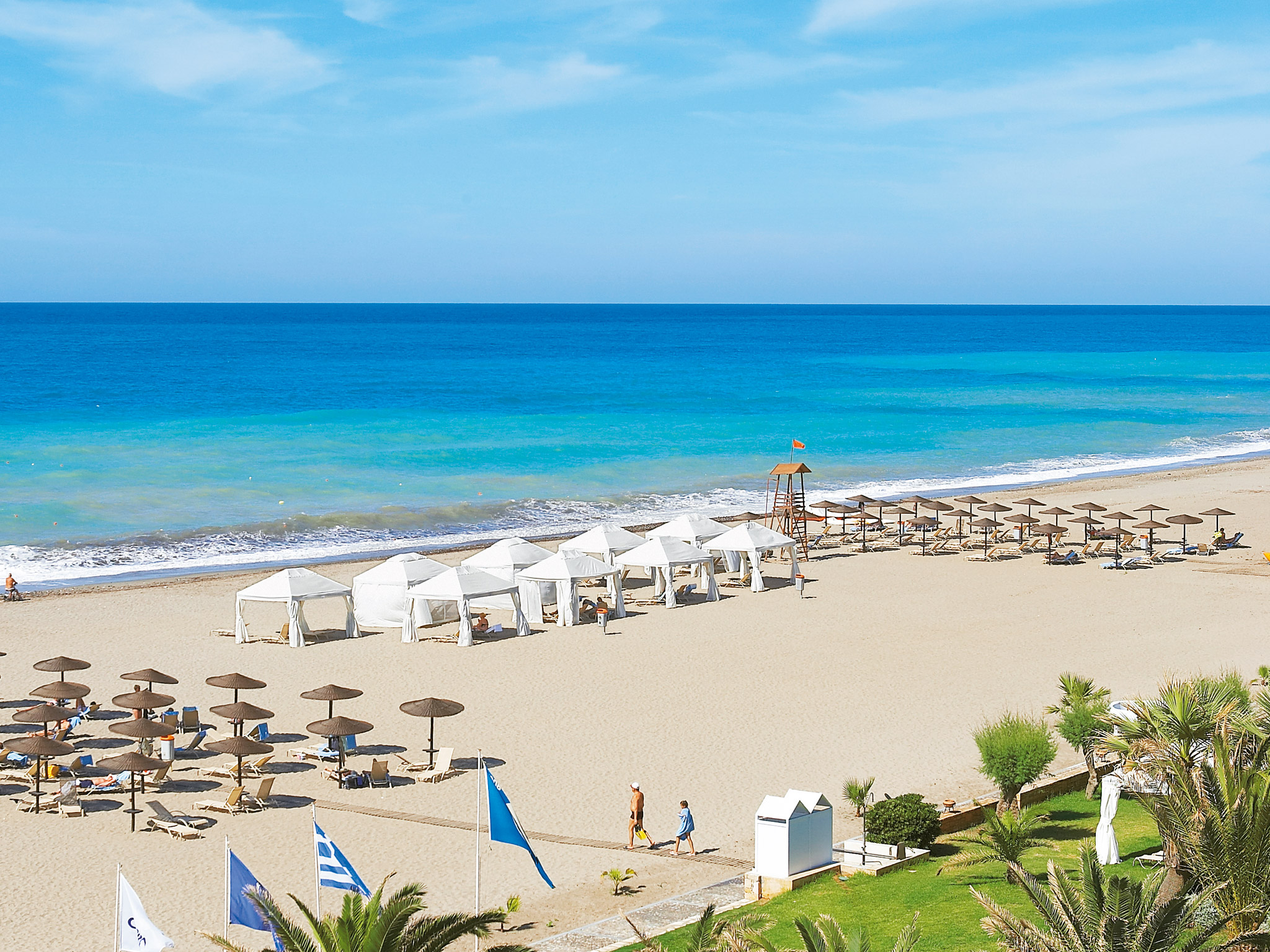 luxury beach side hotel in crete creta palace