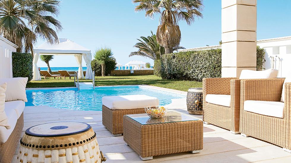 deluxe 1 bedroom bungalow suites creta palace 5 star hotel. Black Bedroom Furniture Sets. Home Design Ideas