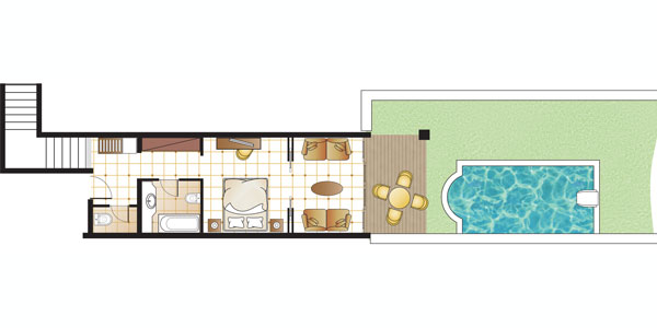 Deluxe Junior Bungalow Suite Private Pool Floorplan