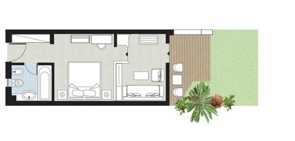 Mgm signature 2 bedroom suite floor plan