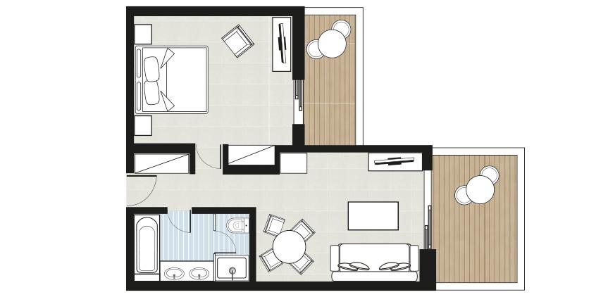 one-bedroom-bungalow-suite-floorplan